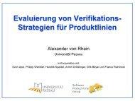 Evaluierung von Verifikations- Strategien für Produktlinien
