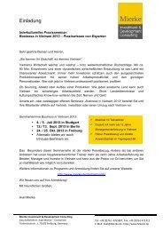 Download Flyer und Anmeldeformular [PDF] - Axel Mierke