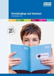 Fernlehrgänge und Seminare - FORUM Berufsbildung