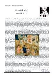 Gemeindebrief Winter 2012 - Waldkirche-stuttgart.de