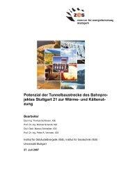 Endbericht - Zentrum für Energieforschung Stuttgart - Universität ...
