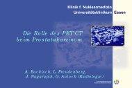 Die Rolle des PET/CT beim Prostatakarzinom