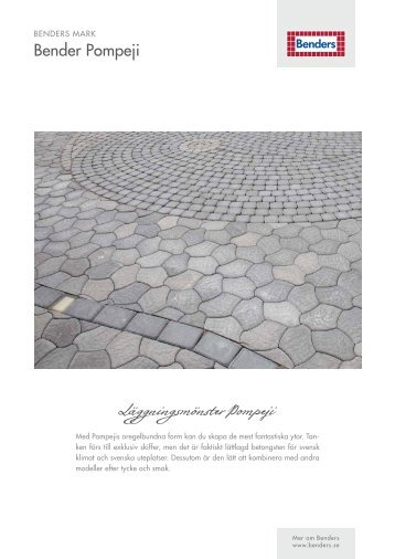 Läggningsmönster Pompeji - Benders