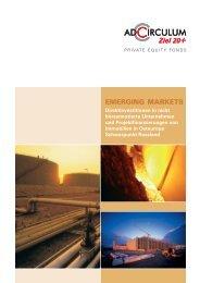 Verkaufsprospekt Emerging Markets (KG) - adcirculum