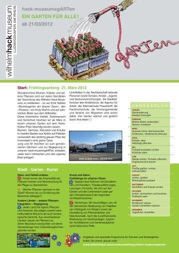 hack-museumsgARTen EIN GARTEN FÜR ALLE! ab 21/03/2012