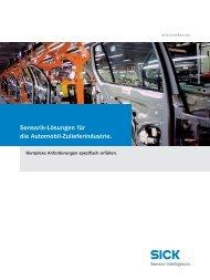 Sensorik-Lösungen für die Automobil-Zulieferindustrie. - Sick