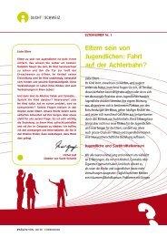 ELTErNBrIEF Nr. 1 - Sucht Schweiz