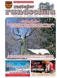 rasteder rundschau, Sonder-Ausgabe Weihnachten 2011