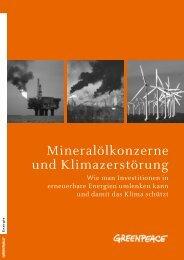 Mineralölkonzerne und Klimazerstörung - Greenpeace