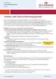 Infoblatt Ausbau- und Nachversicherungsgarantie - Vermittlerportal