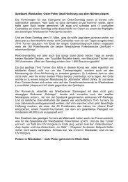 Sonntagsturnier vom 31.03.2013 - Spielbank Wiesbaden