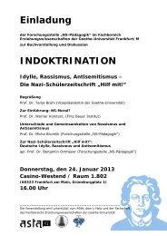 Einladung INDOKTRINATION - Fachschaft 04
