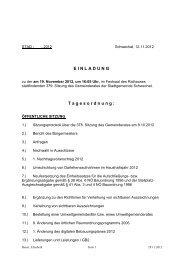 Protokoll der 379. Gemeinderatssitzung am 19. November 2012