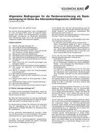 Allgemeine Bedingungen für die Rentenversicherung als Basis ...