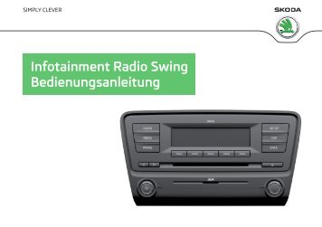 infotainment radio swing bedienungsanleitung koda auto. Black Bedroom Furniture Sets. Home Design Ideas