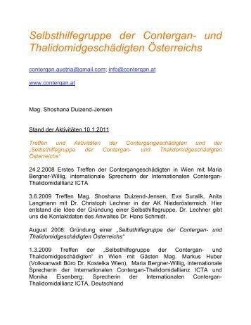 Aktivitäten, Stand 10. 1. 2010 (PDF) - Selbsthilfegruppe der ...