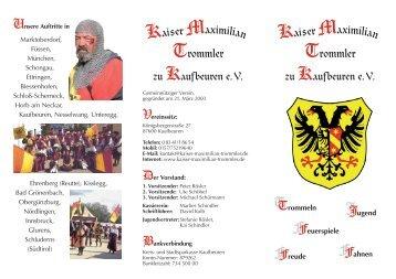 Flyer - Kaiser-maximilian-trommler.de