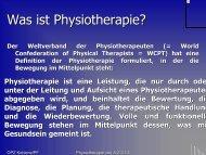 Physiotherapie von A-Z - OPZ in Koblenz