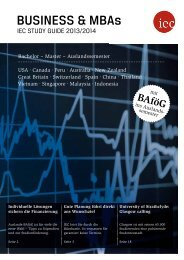 IEC Study Guide Business & MBAs 2013/14 - Auslandssemester, Bachelor, Master