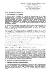 Leistungen des Versorgungswerks - Versorgungswerk der ...
