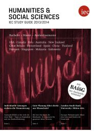 IEC Study Guide Humanities & Social Sciences 2013/14 - Auslandssemester, Bachelor, Master