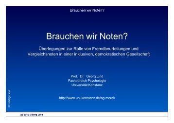 Brauchen wir Noten? - Universität Konstanz