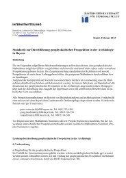 Vorgaben - Bayerisches Landesamt für Denkmalpflege - Bayern