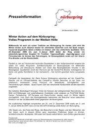 Winter Action auf dem Nürburgring: Volles Programm in der Weißen ...