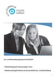 Kursprogramm der Medienausbildung 2013-2014 (pdf)