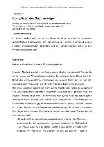 Vortrag: - Attac Tübingen