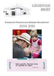 Gemeindebrief Juni 2010 - Evangelisch-Freikirchliche Gemeinde ...