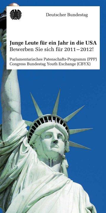 InfoBroschüre zum Parlamentarischen Patenschafts Programm