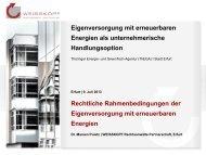 Rechtliche Rahmenbedingungen Eigen-Erzeugungs ... - ThEGA