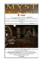 Myst 5 - V - Kapitel K`veer - Lockes deutsche ... - Gamepad.de
