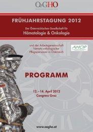 OeGHO Frühjahrstagung 2012- Programm