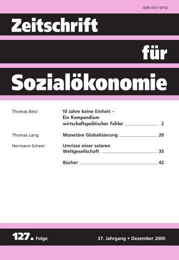 10 Jahre keine Einheit - Zeitschrift für Sozialökonomie