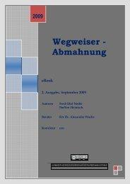 Wegweiser - Abmahnung - Digitale Produkte zum sofortigem ...