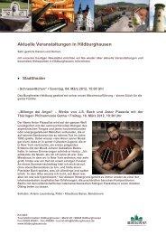 Aktuelle Veranstaltungen in Hildburghausen - Werratal