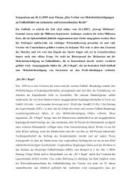 """Symposium am 30.11.2009 zum Thema """"Das Verbot von ..."""