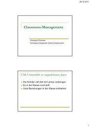 Classroom-Management - Schulpsychologie
