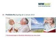 Preisliste Nr. 2 gültig ab 1. Januar 2013 - NRW Kombi