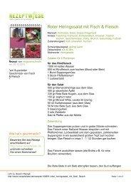 Roter Heringssalat mit Fisch & Fleisch - Rezeptwiese