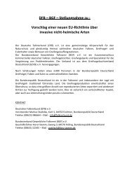 DFB-BGF-Stellungnahme zu EU-Direktive Invasive ... - Falcons World