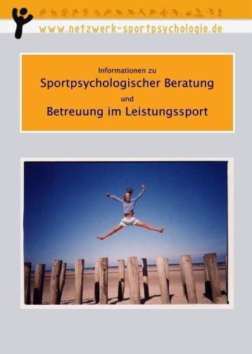 Sportpsychologischer Beratung Betreuung im Leistungssport