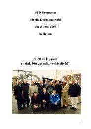 Wahlprogramm - SPD Ortsverein Husum
