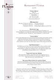 Vorspeisen - restaurant l'union