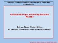Integrierte ländliche Entwicklung - Netzwerke, Synergien ...