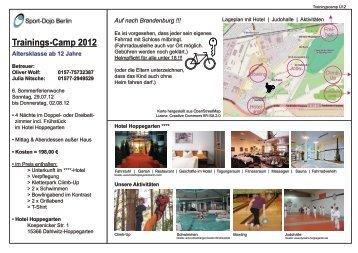 Trainings-Camp 2012 - Sport-Dojo Berlin