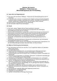 Statuten des Vereins WINGplus – Förderverein der ...