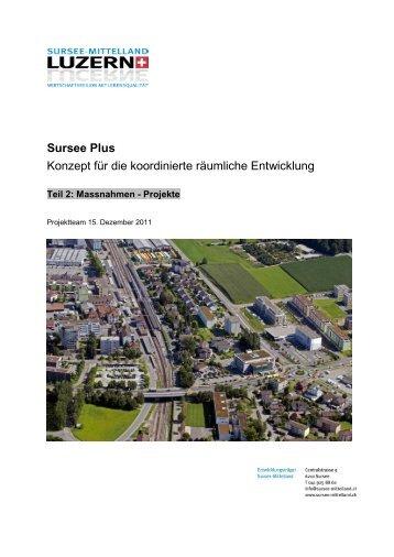 Sursee Plus Konzept für die koordinierte räumliche Entwicklung